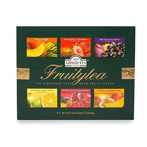 "English Teas Selection Pack ""Fruitytea"" - A Selection of Six Fruit Flavoured Teas, 6 x 10 Foil Enveloped Teabags - 1272"