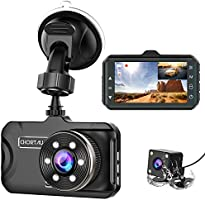CHORTAU Dash Cam For Cars Front and Rear Full HD 1080P, Dual Dash Cam 170° Wide Angle 3.0 inch, Dashboard Camera with WDR...