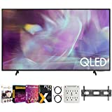 Samsung QN43Q60AA 43 Inch QLED Q60A 4K Smart TV (2021) Bundle with Premiere Movies Streaming 2020 + 37-100 Inch TV Wall Mount + 6-Outlet Surge Adapter + 2X 6FT 4K HDMI 2.0 Cable