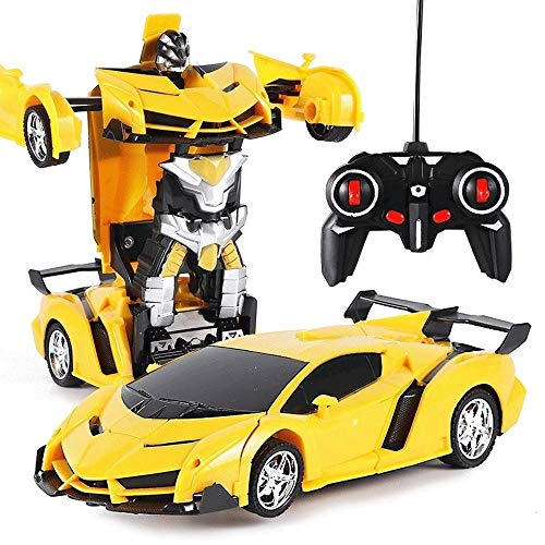 Review Woote 360° Rotation Drift RC Car 1/18 One-Button Remote Control Deformation Vehicle Robot El...