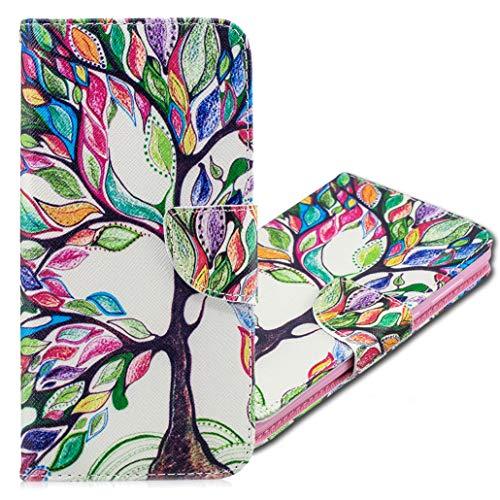 MRSTER Nokia 3310 Hülle Leder, Langlebig Leichtes Klassisches Design Flip Wallet Case PU-Leder Schutzhülle Brieftasche Handyhülle für Nokia 3310. BF Tree of Life