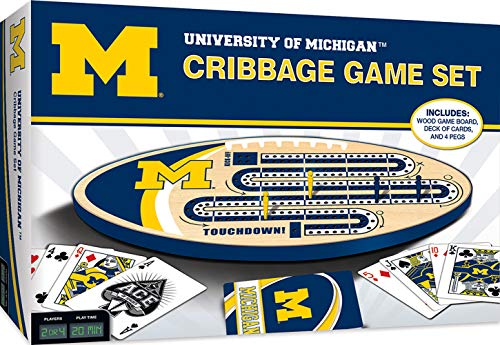 MasterPieces NCAA Michigan Wolverines Cribbage Game, Team Colors, one Size