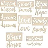 8-Pack Wood Word Stencil Templates for Crafts, Painting