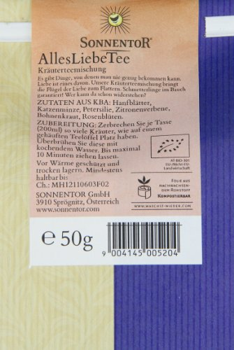 Sonnentor Alles Liebe-Kräutertee lose, 1er Pack (1 x 50 g) – Bio - 4