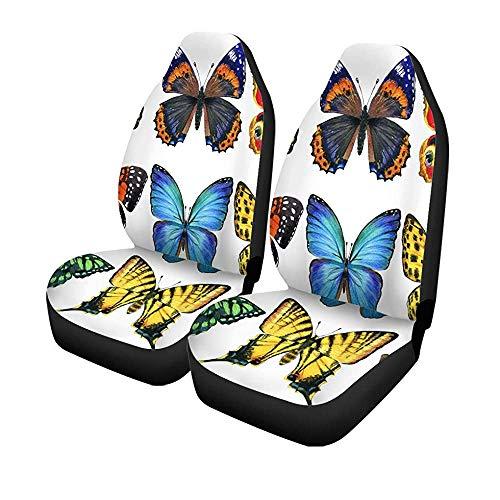 Beth-D Set mit 2 Sitzbezügen für Auto, Fee, Schmetterling, Aquarell, Blume, Honig, Insektenschutz, künstlich, Universal, für Autositze, Vordersitze