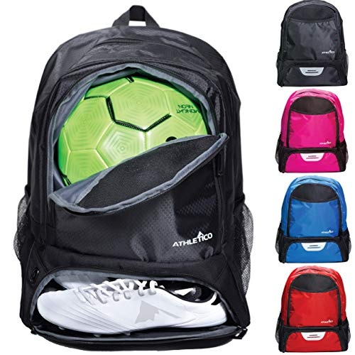 Athletico Youth Soccer Bag - Soccer Backpack & Bags for Basketball, Volleyball & Football | Includes...