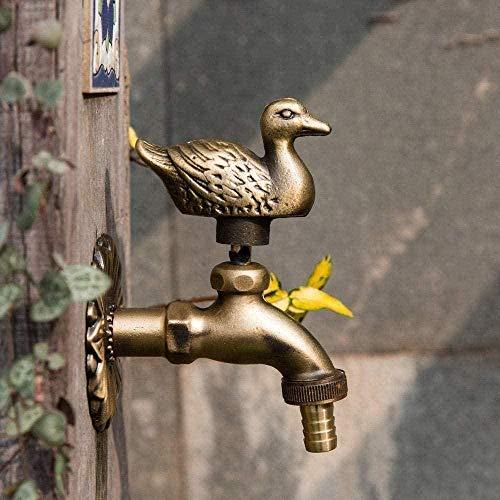 Faucet Garden Faucet animale Garden Time Tutto rame Singolo giardino freddo Antigelo Mop Piscina Lavatrice Anatra ricca