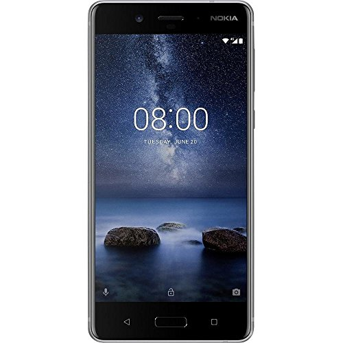 Nokia 8 64GB Single-SIM Android (GSM only, No CDMA) Factory Unlocked 4G/LTE Smartphone (Silver) - International Version