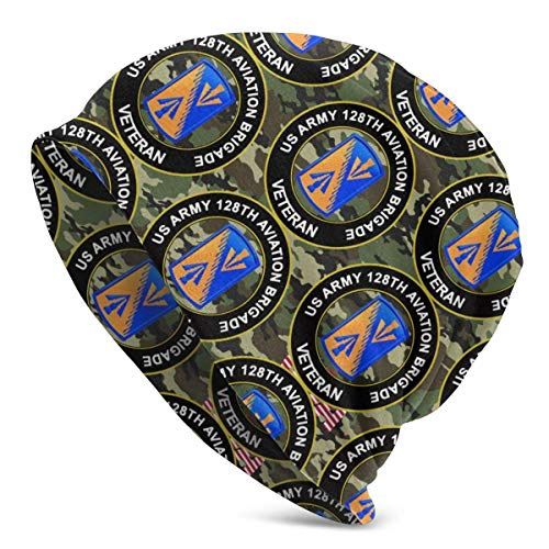 shenguang Camouflage US Army 128. Aviation Brigade Veteran Unisex Strickmütze Soft...