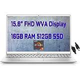 "2021 Flagship Dell Inspiron 15 5000 5505 Business Laptop 15.6"" FHD Display AMD 6-Core Ryzen 5 4500U(Beat i7-10710U) 16GB DDR4 512GB SSD Backlit KB Fingerprint Wifi6 USB-C Win10 + iCarp HDMI Cable"