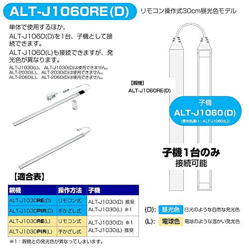 『ELPA エルパ LED多目的灯連結リモコン付 60cm 昼光色 明るさ2段階切替可能 薄い形状 ALT-J1060RE(D)』のトップ画像