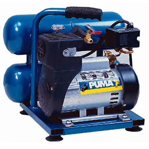 Puma Industries LA5721 Air Compressor, Single Stage Oil-Less Direct Drive Series, 1.0 hp Running, 135 Maximum psi, 2 gal, 33 lb.