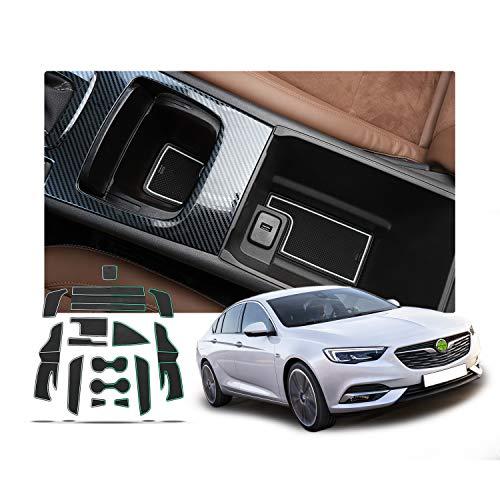 RUIYA Alfombrillas Antideslizante para Regal | Opel Insignia 2018 2019 Consola Central Interior Alfombra de Goma Antideslizante Anti-Polvo (Blanco)