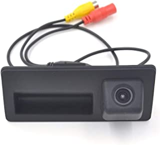 HKPKYK 車のリアビューカメラ,車のトランクハンドルカメラリアビューカメラ、アウディA4 A5 S5 Q3 Q5、VWパサートティグアンゴルフトゥーラン、ジェッタシャラントゥアレグ