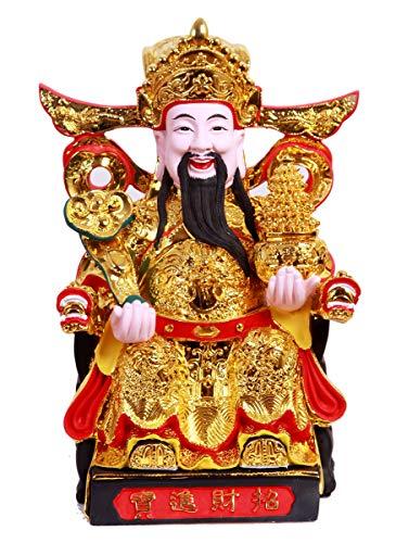 Feng Shui CAI Shen Statue, Caishen, Wencaishen, God of...