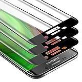 Cadorabo 3x Vollbild Panzer Folie kompatibel mit Samsung Galaxy S6 EDGE - Schutzfolie in TRANSPARENT mit SCHWARZ - 3er Pack Gehärtetes (Tempered) Bildschirm-Schutzglas in 9H Festigkeit mit 3D Touch