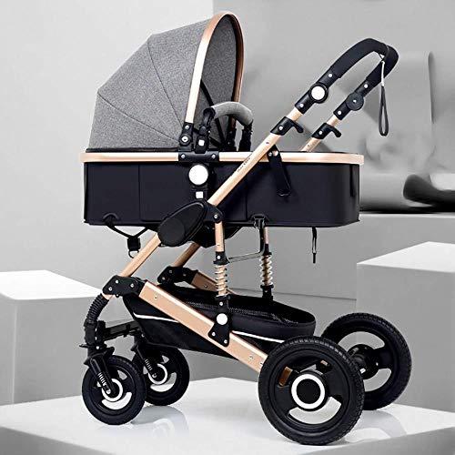 Pushchairs Reissysteem Kinderwagen Draagbare Baby Kinderwagen 3 in 1 Kinderwagen met Schokbestendige Pushchair Pasgeboren en Peuter Opvouwbare Anti-Shock Baby Producten