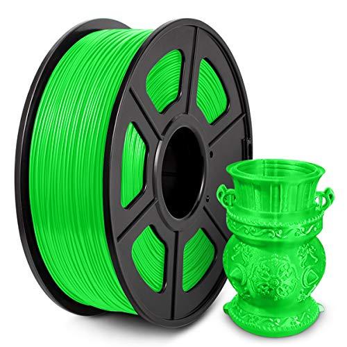 Filamento PLA 1,75 mm, Filamento PLA para impresora 3D, Filamento PLA 1 KG (2,2 lb) PLA Verde