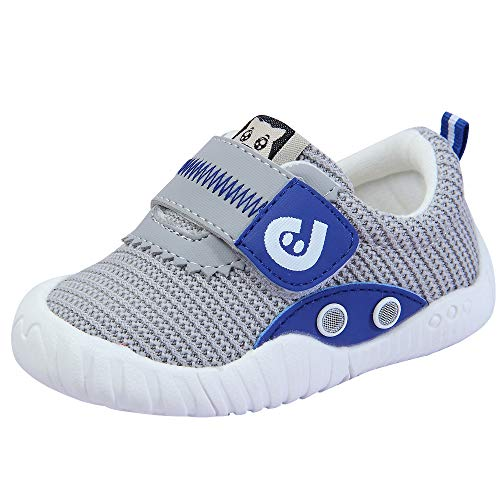 Kuner Baby Breathable Sneakers for Toddler Boys Girls Kids Outdoor Shoes First Walkers (Grey-1, 9-12months)