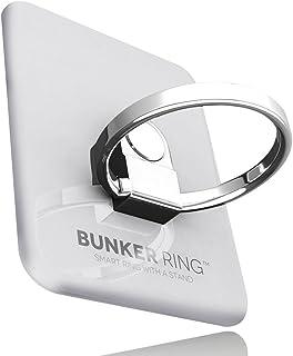 ビジョンネット BUNKER RING 3 (全5色) バンカーリング iPhone/iPad/iPod/Galaxy/Xperia/スマートフォン・タブレットPCを指1本で保持・落下防止・スタンド機能(シルバー) 4.7×3.6×0.6cm