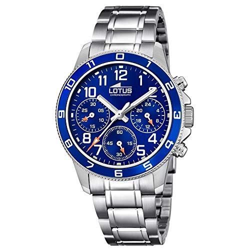 Lotus Jungen Chronograph Quarz Uhr mit Edelstahl Armband 18580/2