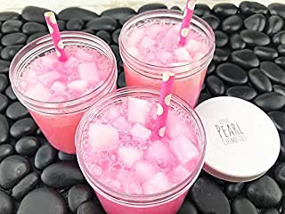6 Oz Pink Lemonade Scented Slime With Jelly Ice Cubes