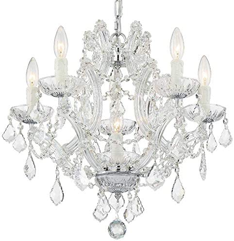 new arrival Maria Theresa lowest 6 online Light Clear Crystal Chrome Mini Chandelier online