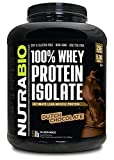 NutraBio 100% Whey Protein Isolate - Complete Amino Acid Profile - 25G of Protein Per Scoop - Soy and Gluten Free - Zero Fillers, Non-GMO, Protein Powder - Chocolate, 5 Pounds