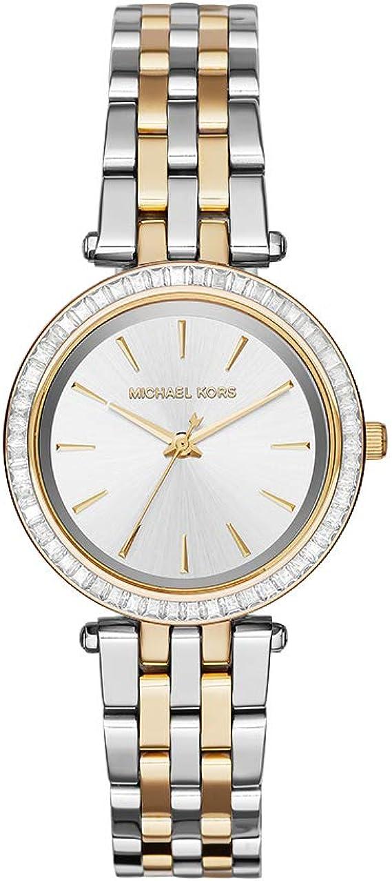 Michael Kors Reloj Analógico para Mujer de Cuarzo con Correa en Acero Inoxidable MK3405