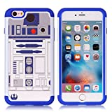 iPhone 6S Plus Case, R2D2 Astromech Droid Robot Pattern Shock-Absorption Hard PC and Inner Silicone Hybrid Dual Layer Armor Defender Protective Case Cover for Apple iPhone 6S Plus/iPhone 6 Plus