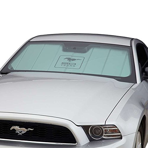 Covercraft UVS100 Custom Sunscreen with Mustang 50 Years Logo Silver UFM11372SV
