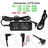 12V 3.33A 2.26A Power AC Adapter Charger for Samsung 11.6' Chromebook 2 3 XE500C13 XE303C12 XE500C13-K03US XE500C13-K04US XE500C13-K05US XE303C12-A01US XE503C12 NP930X2K XE503C32 XE500C12 PA-1250-98