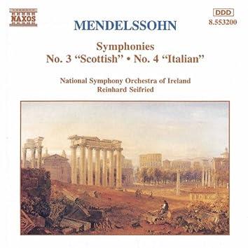 MENDELSSOHN: Symphonies No. 3 and 4
