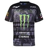 Monster Tech3 18T3M-AOPT-M T- T-Shirt Homme, Noir/Vert, FR : M (Taille Fabricant : M)