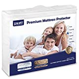 ZAMAT Premium 100% Waterproof Mattress Protector, Breathable & Noiseless Mattress Pad Cover, Fitted 14'-18'...