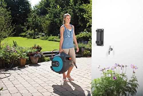GARDENA Retractable Hose Reel 82-Feet With Convenient Hose Guide