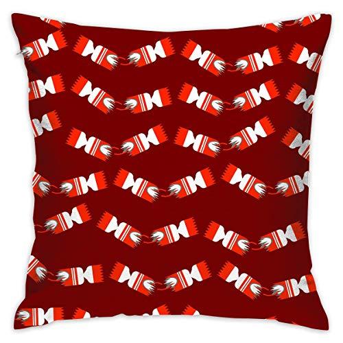 ZCHW Kissenbezug Christmas Crackers Bed Sofa Kissenbezug Schlafkissen Weiche Kissenbezug 45X45CM