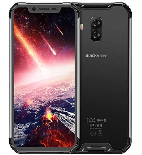 Blackview BV9600 Pro - Avanzado Dual Sim Smartphone Libre 4G LTE (2019), Pantalla 19:9 FHD AMOLED (Biseles Ultra Estrechos), Helio P60 6GB+128GB, IP68/IP69K Impermeable al Agua/Polvo - Plata