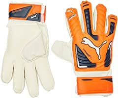 PUMA Guantes de Portero de fútbol Junior EVO Gigafish Protect 3, Lava tocad/Parasol/White, 4, 040981 30
