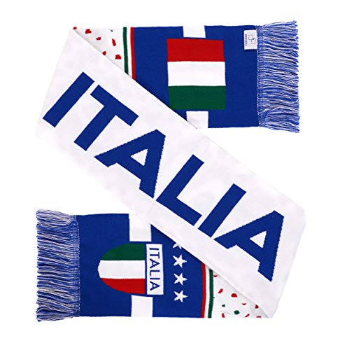 Italy ltalia Soccer High-Definition HD Knit Scarf (White)