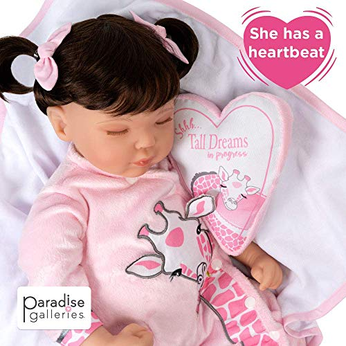 Paradise Galleries Reborn Toddler Doll with Heartbeat- Sleeping Tall Dreams, 20 inches, SoftTouch Vinyl, Weighted Body, 5-Piece Reborn Doll Set