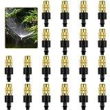 20 Piezas Boquilla Latón Ajustable, Boquilla Atomizadora, Boquillas de Nebulización de Cobre Apto para Sistemas de Manguera de Herramientas de Jardín