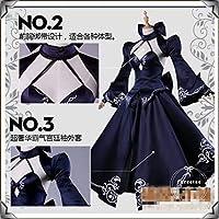 即納コスプレ衣装 Fate/Grand Order FGO セイバーオルタ風ドレス ワンピース saber 女S