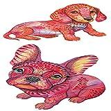 adgkitb 5piezas Pegatinas de Tatuaje Falso Temporal a Prueba de Agua marrón Gris Perros Dibujos Animados diseño Arte SF3257 10.5x6 cm