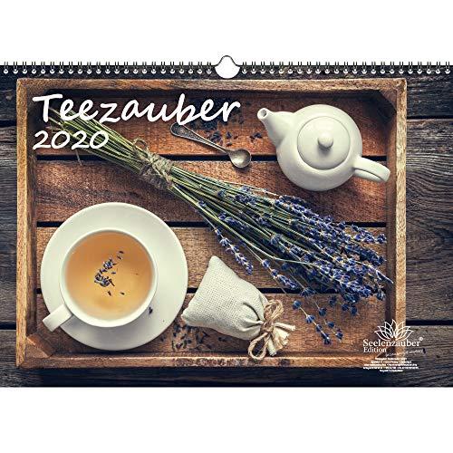 Theezauber DIN A3 kalender 2020 thee cadeauset: 1 extra wenskaart en 1 kerstkaart - zielmagie