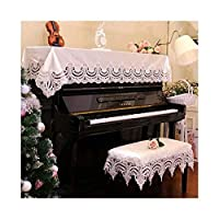 G-AO ピアノのダストカバー布カバーピアノスツールカバーヨーロッパのレース刺繍のピアノカバータオル(色:ピンク、サイズ:上) G-AO (Size : Single stool set)