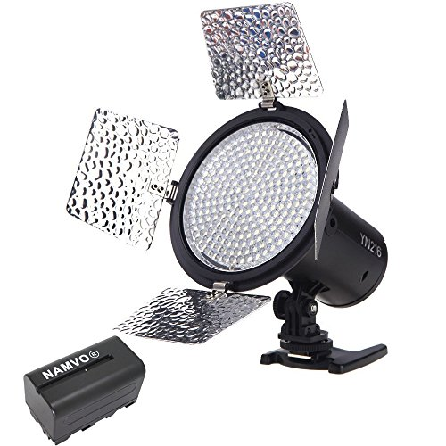 YONGNUO YN-216 LED Studio Video Light 5500K For Canon Nikon Sony Camcorder...