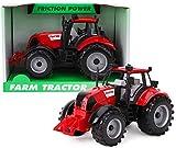 TOYLAND 22cm x 12cm Tractor Agrícola Rojo con Fricción con Capó de Apertura