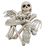 Runstarshow Squelette Halloween Décoration Effrayante Kit 12 PCS / 9PCS Os Crâne Horrible Cimetière Fantasmagorique pour Extérieure et Intérieur Carnaval Maison Hantée (12 PCS)