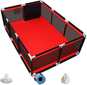 YLLSB-Baby fence Kids Household Game Guardrail Infant Play Fence  nbsp - Red  Sizes  color Size 190x128x66cm  A 128x128x66cm  Color Size 190x128x66cm